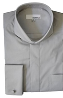 Modena- Gray French Cuff Cutaway Shirt