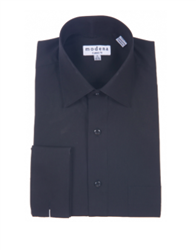 Modena - Black Classic Fit Dress Shirt