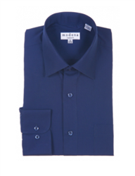 Modena - Navy Classic Fit Dress Shirt