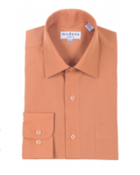 Modena - Rust Classic Fit Dress Shirt