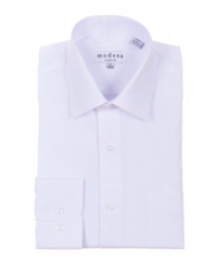 Modena - White Classic Fit Dress Shirt
