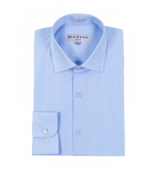 Modena - Powder Blue Slim Fit Dress Shirt
