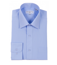 Modena - Powder Blue Classic Fit Dress Shirt