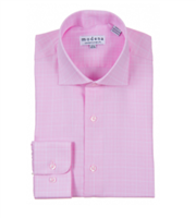Modena - Pink Contemporary Fit Dress Shirt