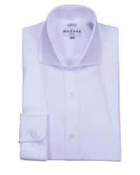 Modena - White Slim Fit Dress Shirt