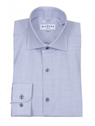 Modena - Gray Slim Fit Dress Shirt