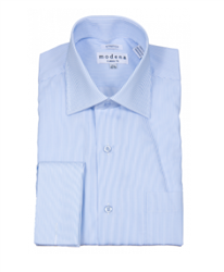 Modena - Blue Classic Fit Dress Shirt