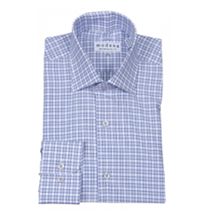 Modena - Blue Contemporary Fit Dress Shirt