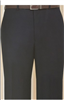 MaxDavoli Solid Black Slacks