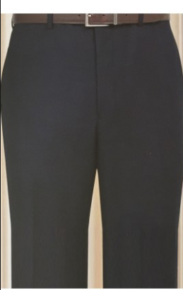 51bdc949 MaxDavoli Solid Black Slacks