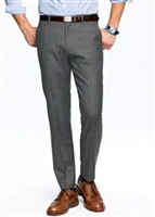 MaxDavoli Solid Charcoal Slacks