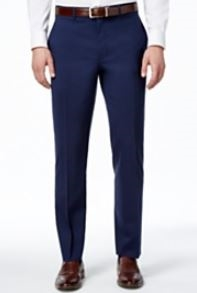 5640e290 MaxDavoli Solid Navy Slacks