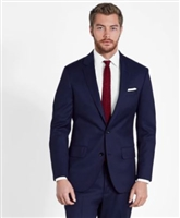 MaxDavoli Solid Navy Suits Modern Fit