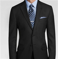MaxDavoli Solid Black Suits Modern Fit