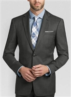 MaxDavoli Solid Charcoal Suits Modern Fit