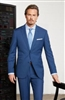 MaxDavoli Solid French Blue Suits Modern Fit