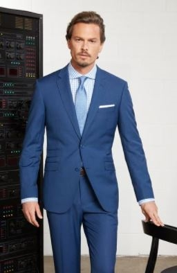 3ba5c561 MaxDavoli Solid French Blue Suits Modern Fit