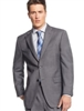 MaxDavoli Solid Medium Gray Suits Modern Fit