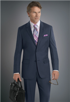 MaxDavoli Sharkskin Blue Suit