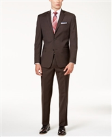 MaxDavoli Sharkskin Brown Suit