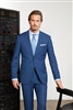MaxDavoli Sharkskin French Blue Suit