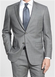 MaxDavoli Sharkskin Light Grey Suit