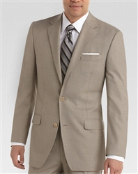 MaxDavoli Sharkskin Tan Suit
