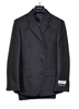 Boy Suit - 3 Pieces - Vested - Black - Sizes 12-20 - Huskies
