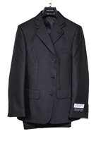 Boy Suit - 3 Pieces - Vested - Black - Sizes 8-20