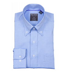 Proper Light Blue Wrinkle Free Classic Fit