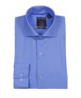Proper Blue Wrinkle Free Slim Fit