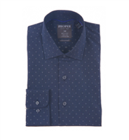 Proper Navy Wrinkle Free Contemporary Fit