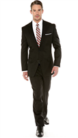 Michael Kors Solid black Suit Modern Fit