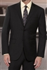 Prive Solid Black Slim Fit Suits