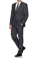 Prive Solid Charcoal Slim Fit Suits