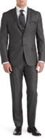 Prive Solid Medium Grey Slim Fit Suits