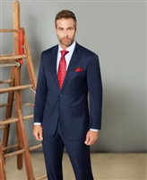 Prive Solid Navy Slim Fit Suits