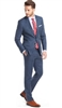 Prive Sharkskin Blue Slim Fit Suits