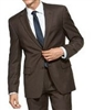 Prive Sharkskin Brown Slim Fit Suits