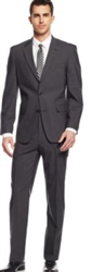 Prive Sharkskin Charcoal Slim Fit Suits