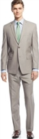 Prive Sharkskin Tan Slim Fit Suits