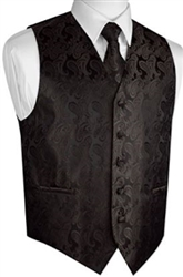 Brand Q - Paisley Black  Vests