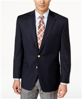 Big & Tall Ralph Lauren - Stretch Wool Solid Navy Blazer