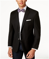 Big & Tall Ralph Lauren - Stretch Wool Solid Black Blazer