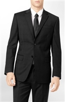 Caravelli Solid Black Slim Fit Suit