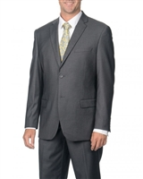 Caravelli Solid Grey Slim Fit Suit