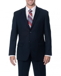 Caravelli Solid Navy Slim Fit Suit