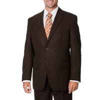 Caravelli Solid Brown Suit Modern Fit