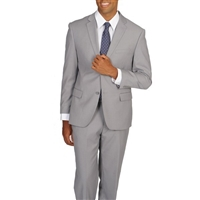 Caravelli Solid Light Grey Suit Modern Fit