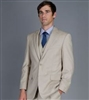 Caravelli 3 piece Vested Solid Beige Suit Modern Fit